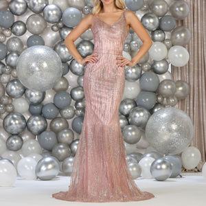 Rose-Gold Evening Pageant Prom Red Carpet Dress